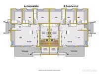 Pohjakuva A-huoneisto ja B-huoneisto