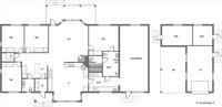 Pohjat, päärakennus ja talousrakennus