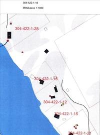 kartta kiinteistöstä, kyseessä kiinteistö: 1-16
