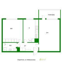 Tilavat huoneet sekä selkeä pohjaratkaisu