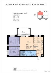 VIIMEINEN VAPAA 62 m2 HUONEISTO