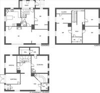 Tiloja kolmessa kerroksessa
