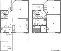 olohuoneen ja keittiön välinen seinä on kiinteä.