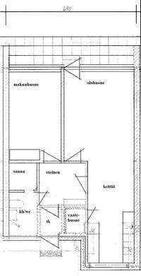 Pohjapiirustus (suuntaa-antava, ei mittakaavassa)