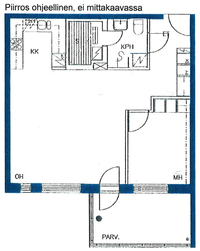 Asunnon pohjapiirros, 56,00 m2