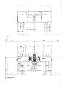 Yläkerta ja alakerta, piirros suuntaa-antava