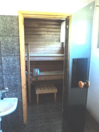 Uudistettu pesuhuone/sauna