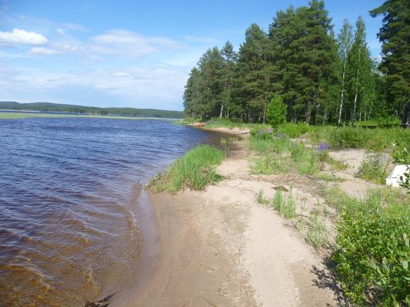 yleistä rantaa noin 100 m kohteesta