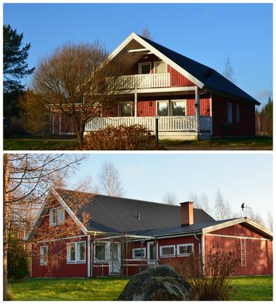 Talo, edestä ja takaa