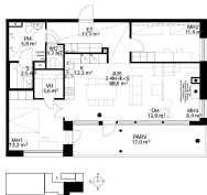Hyvä pohjaratkaisu ja tilavat huoneet