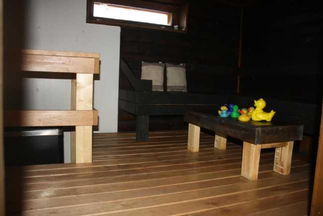 Sauna kellarissa, ainavalmis kiuas