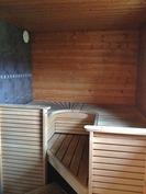Sauna (uudehko Harvian sisustus)