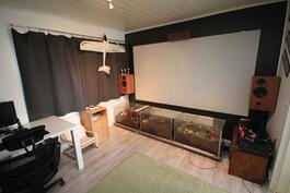 Kotiteatteri ja harrastehuone (voi muuttaa makuuhuoneeksi)