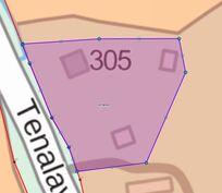 Suuntaa-antava määräala kartta tilasta
