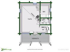 Vapaa-ajan rakennus pohja 3 D