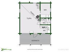 Vapaa-ajan rakennus pohja 2 D