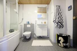 Kylpyhuone, jossa poreamme.