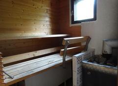 Laajennusosan sauna