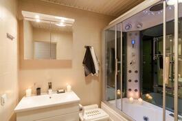 kylpyhuoneessa höyrysuihkukaappi