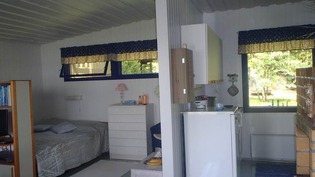 makuutila ja keittiö