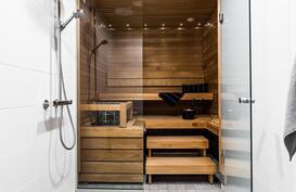 Tyylikäs sauna on näyttävä sellaisenaan!