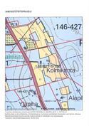 Tilan peltoalueet on kartalla keltaisella.