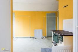 Yläkerran keittiö/huone