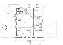 Päärakennuksen yläkerta