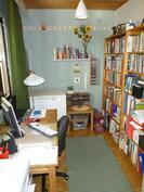Olohuoneen vieressä oleva työhuone