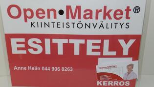Myyntiä hoitaa Open Market/ Anne Helin 044 906 8263