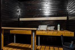 Hieno, persoonallinen sauna