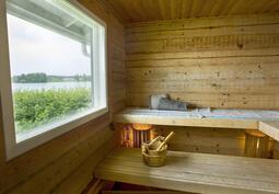 Rantarakennuksen sauna