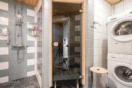 Pesukoneliitäntä kylpyhuoneessa