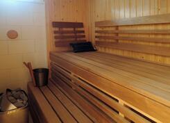 Tyylikas ja hyvin tilava sauna