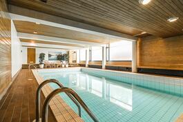Yhtiöllä on oma viihtyisä uima-allaosasto tuomaan vaihtelua meressä uimiseen / avantouintiin!