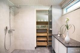 Suihkuhuone spa-henkinen