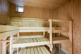 tilava sauna iso puoli