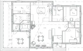 Kodin tilat jakautuvat näin.