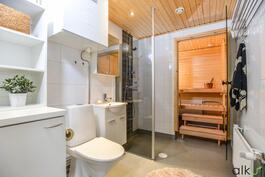 Kylpy/saunatilat ovat loistavat!
