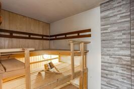Sauna,josta tällä hetkellä puuttuu kiuas