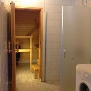 suihkutila ja näkymä saunaan