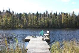 Laituri ja näkymä järvelle