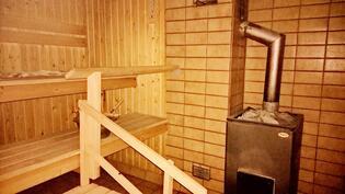 Sauna puulämmitteiselä kiukaalla