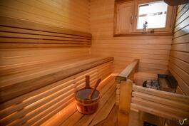 Ikkunallisessa saunassa rentoutuu!