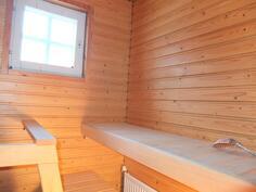 Sauna on ollut hyvin vähäisellä käytöllä.