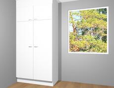 Tulevaa kalustekuvaa makuuhuoneesta (10,6m²)