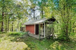 Miellyttävä yhteinen sauna pihapiirissä - En trevlig sambastu på gården