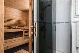 Suihkutila ja sauna