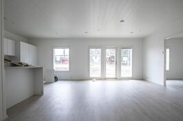 Esimerkkikuvaa lähes valmiista asunnosta (86 m2).