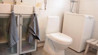 toinen wc sekä pk-liitäntä
